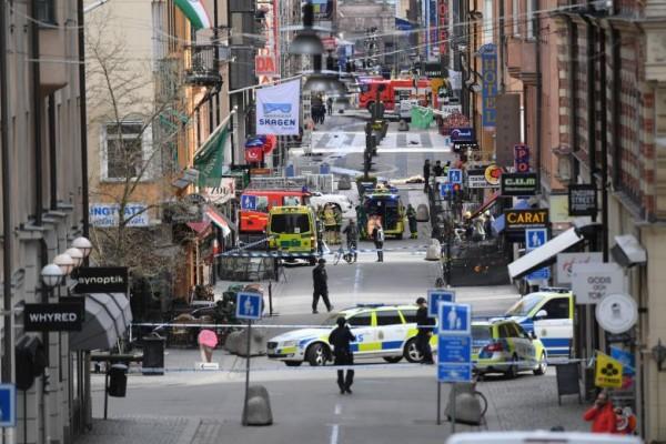 Korban tewas serangan Stockholm jadi lima orang
