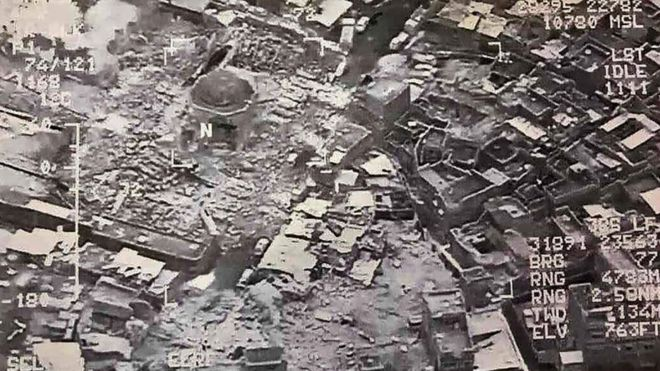 ISIS dilaporkan meledakkan Masjid Agung al-Nuri di Mosul