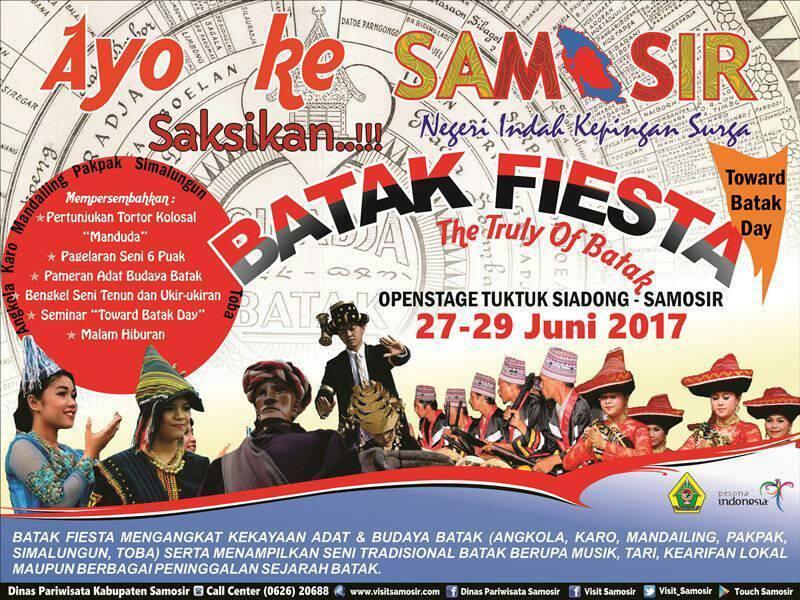 """Yuk Liburan Di Samosir, Tanggal 27-29 Juni """"Batak Fiesta"""" Dilangsungkan"""