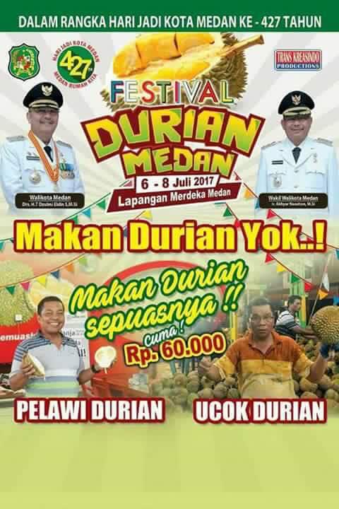 Di Medan festival Durian buat rugi pengunjung. Ini ceritanya…