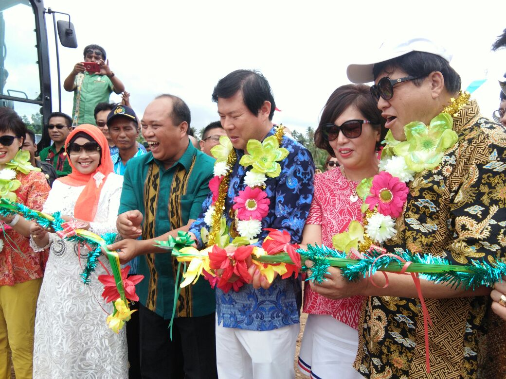 Resmikan Pembuatan Tambak Udang di Padaleu, Presiden PT MBG: Kami Akan Jadikan Daerah Konut Dan Masyrakatnya Sejahtera