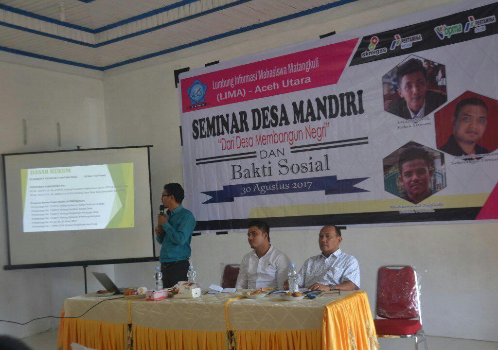 LIMA Adakan Seminar Desa Mandiri di Matang kuli