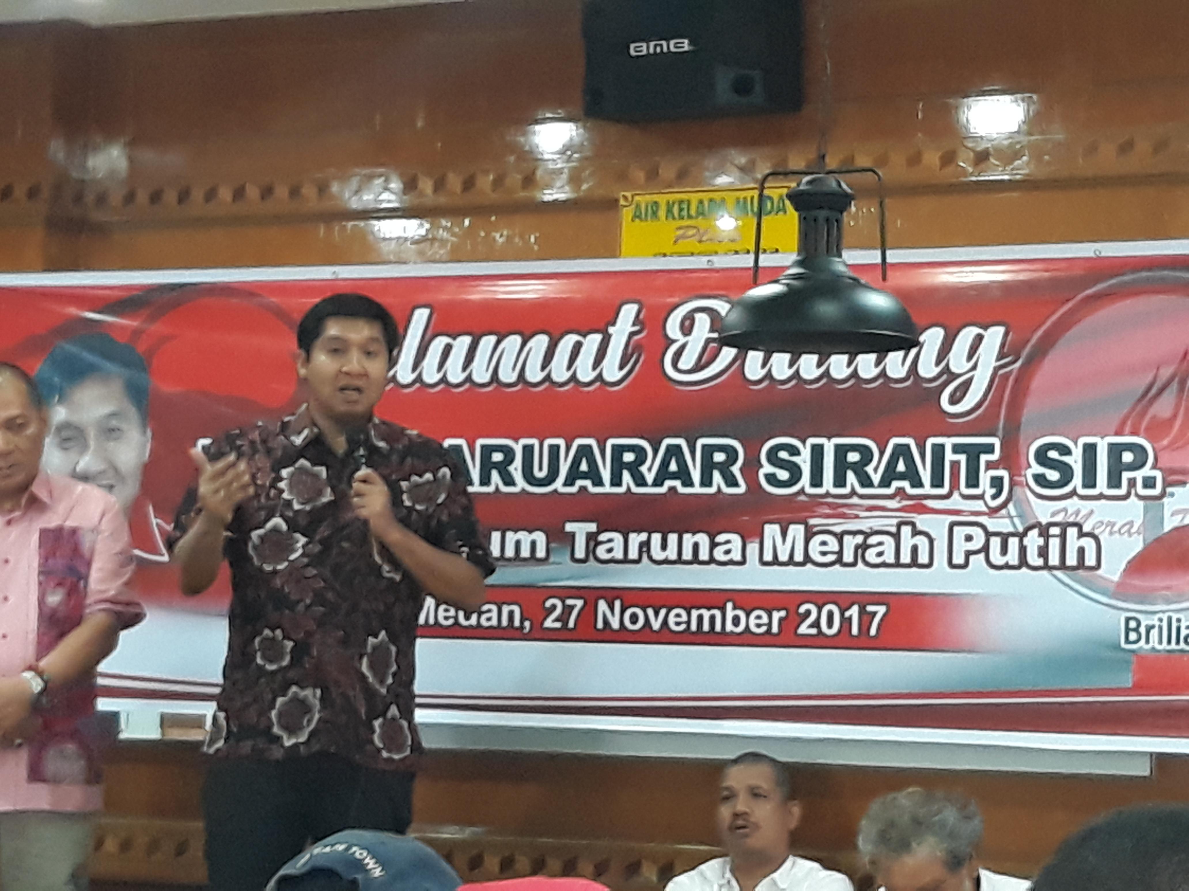 Ketua Umum DPP TMP Maruarar Sirait: TMP Sumut Harus Mampu Menjadi Pembuat Sejarah