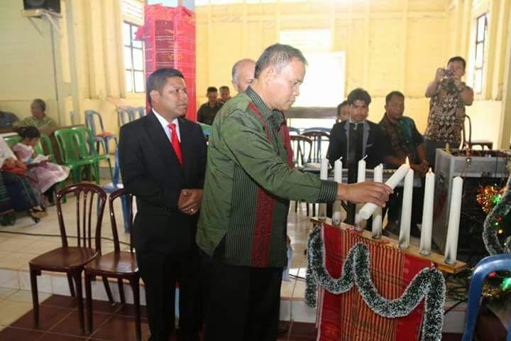 Bupati Taput Hadiri Natal Oikoumene Kecamatan Purbatua