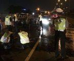 Mobil Hangus Terbakar di Tol Pedati Arah Cawang
