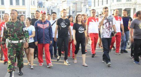 Wali Kota Serta Andika & Ussy Ikut Olahraga Bersama Warga Medan