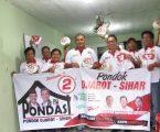 Wong Chun Sen Tarigan Menyumbangkan Baju, Stiker Dan Spanduk Untuk Relawan PONDASI
