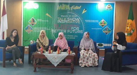 Anak Anggota DPRD Medan, Duma Dame Hutagalung Jadi Pembicara Talk Show Di USU