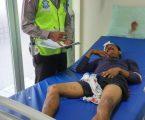 Pria Tanpa Identitas Korban Tabrak Lari Di selamatkan Anggota Satlantas Polsek Pancur Batu