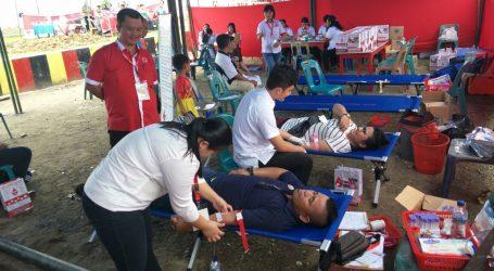 Peduli Sesama Ketua DPC LSM PENJARA Gunungsitoli Donor Darah