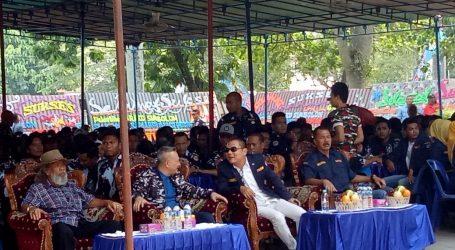 Kapolsek Medan Baru Pimpim PAM Pelantikan Pokkar AMPI di Lapangan Gajah Mada Medan