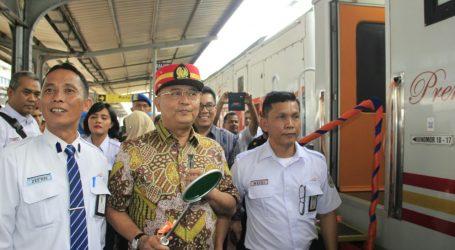 Wali Kota Resmikan  Peluncuran KA Sribilah Premium