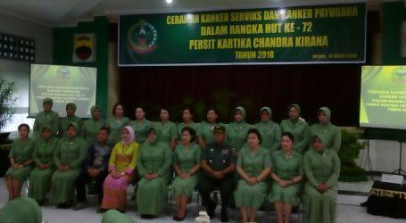 CERAMAH KANKER PAYUDARA DAN KANKER SERVIKS DALAM RANGKA HUT KE-54 DHARMA PERTIWI TAHUN 2018