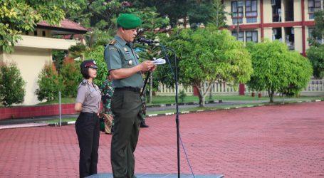 Dandim 0213 Nias Laksanakan Upacara HKN TNI/Polri Di Mapolres Nias