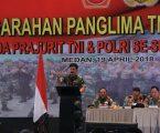 Panglima TNI dan KAPOLRI Berikan Arahan pada Prajuritnya di Medan