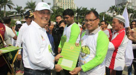 Menteri LHK Launching Medan Zero Waste City 2020 Di Lapangan Merdeka