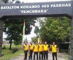 Kapolsek Medan Baru Sambangi Batalyon 469 Paskhas, Jalin Silatuhrahmi