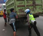Petugas Lantas Polsek Sunggal tetap Upayakan Kelancaran Arus Lalulintas