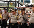 Kabag Ops Polrestabes dan Kapolsek Medan Baru Kawal Pam Unjukrasa BEM Sumut