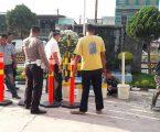 Cegah dan Tangkal Terorisme, Polsek Percut Sei Tuan Larang Kendaraan Memutar Arah dari Depan Mako