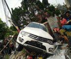 Mobil Pajero Putih Kecelakaan Tunggal di Jalan Setia Budi Medan,2 OrangTewas di Tempat