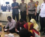 Kapolres Pelabuhan Belawan Menyaksikan Pelipatan Surat Suara