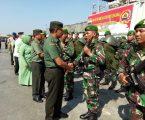 PANGDAM I/BB MENYAMBUTSATGAS YONIF 123/RAJAWALI PURNA TUGAS PAMTAS RI-MALAYSIA