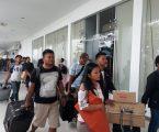 Penumpang Kapal KM Kelud Membeludak di Terminal Penumpang Bandar Deli