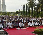 KODAM I/BB Rayakan Hari Kemenagan Dengan Sholat Idul Fitri di Lapangan Apel