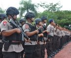Waka Polres Nias Pimpin Apel Pergeseran Pasukan Pengamanan Pilgubsu 2018