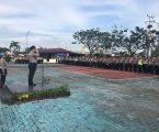 Kapolres Pelabuhan Belawan Apel Pergeseran Pasukan Pengamanan Pemungutan Suara Pilkada Serentak