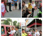 Wong Chun Sen Berbagi Takjil Kepada Warga dan Pengendara Motor di Kota Medan