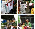 Bagikan Kaos DJOSS, Wong Chun Sen Dihampiri Pembeli dan Pedagang Pasar Pagi Mandala By Pass