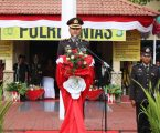 Kapolres Nias Bacakan Amanat Presiden RI di Hut Bhayangkara Ke-72 Tahun 2018