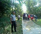 Program Jokowi Bantuan DD, Kades Mar'ruf Bersama Warga Gotong Royong Membangun Desa