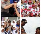 Ratusan Siswa SD Dan SMP Pinagsori Sambut Kunker Kapoldasu DI Sibolga -Tapteng