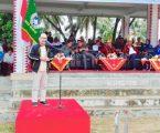 Tokoh Nasional Fiman Jaya Daeli Hadiri Pembukaan Open Turnamen Sepakbola