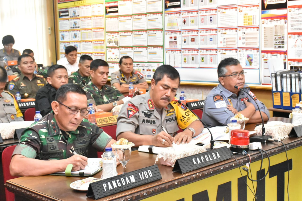 Pangdam I/BB dan  Kapoldasu Vidcom Dalam rangka  Kesiapan Pengamanan Pemilu
