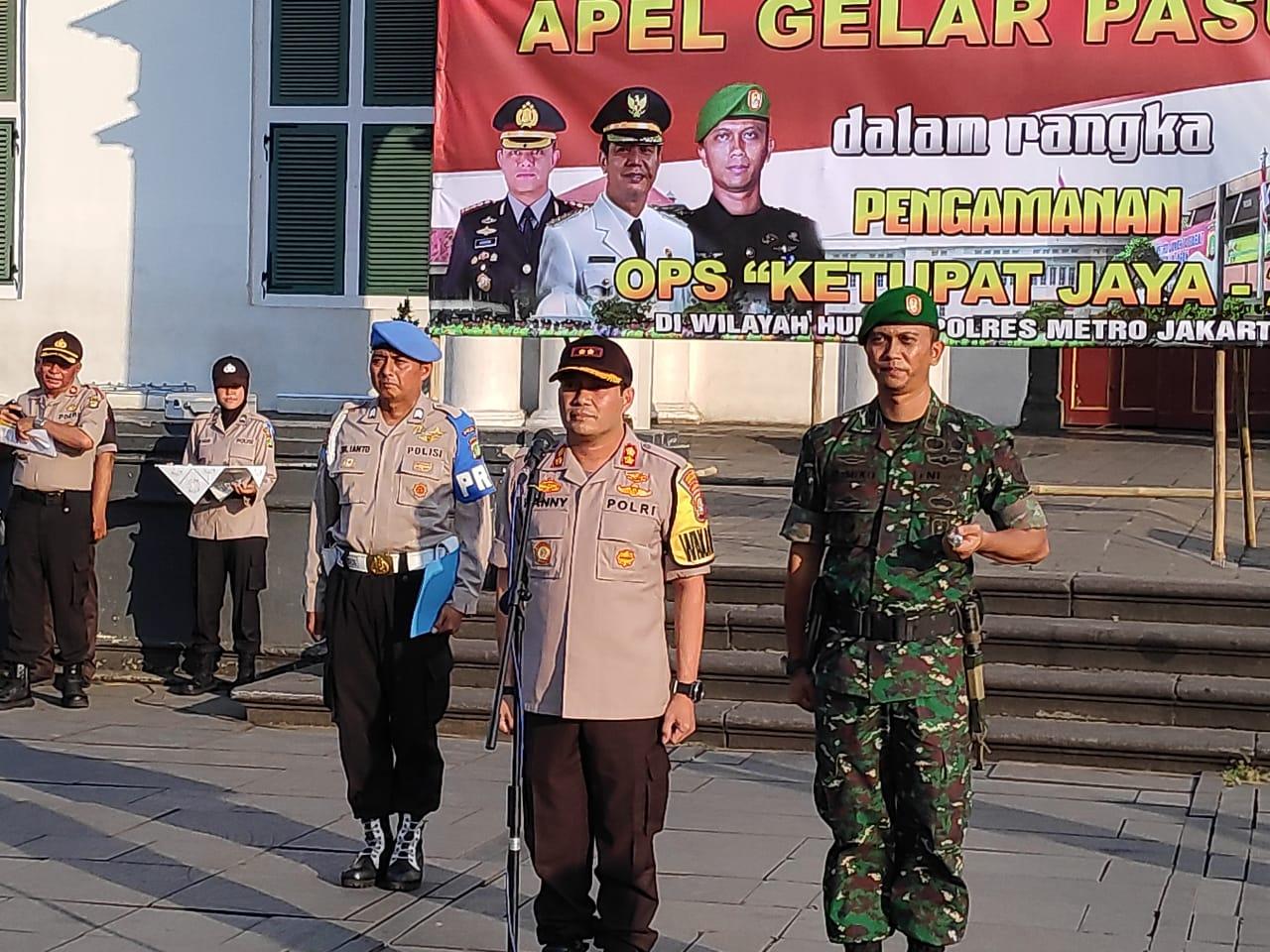 Kapolres Metro Jakarta Barat Gelar Apel Pasukan Dalam Rangka Pengamanan Operasi Ketupat Jaya 2019