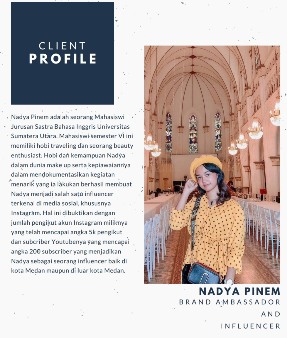 Nadya Pinem, Brand Ambassador Muda Panutan Milenial