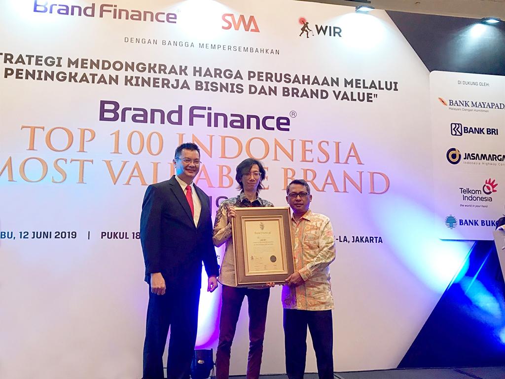 PT Link Net Tbk untuk Kedua Kalinya Masuk Indonesia's Top 100 Most Valuable Brands 2019