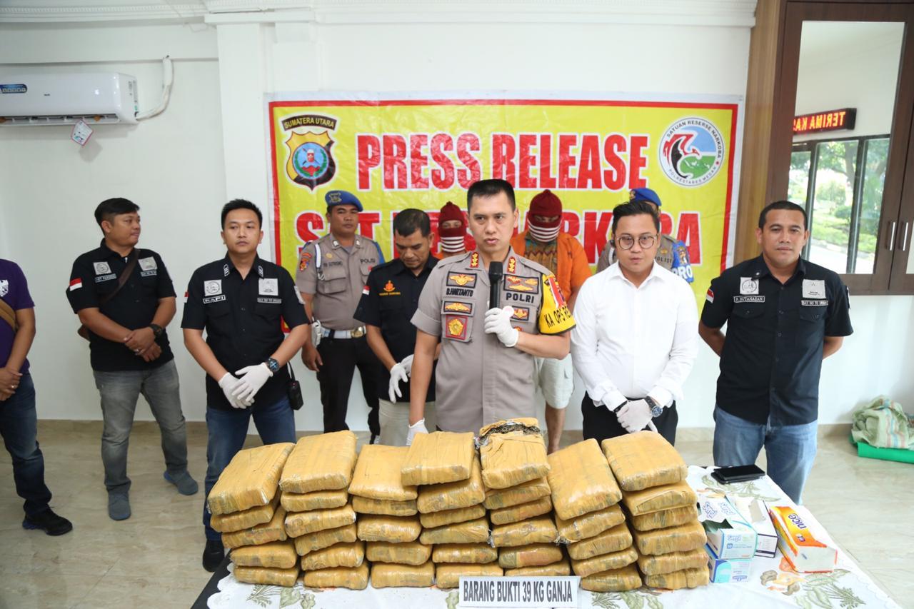 Satres Narkoba Polrestabes Medan Gagalkan Peredaran Ganja 39 Kg