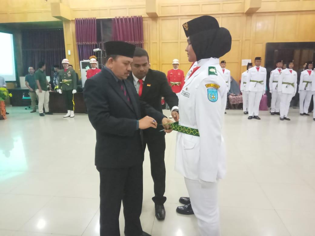 Wakil Wali Kota Langsa Mengukuhkan 72 Pasukan Paskibraka