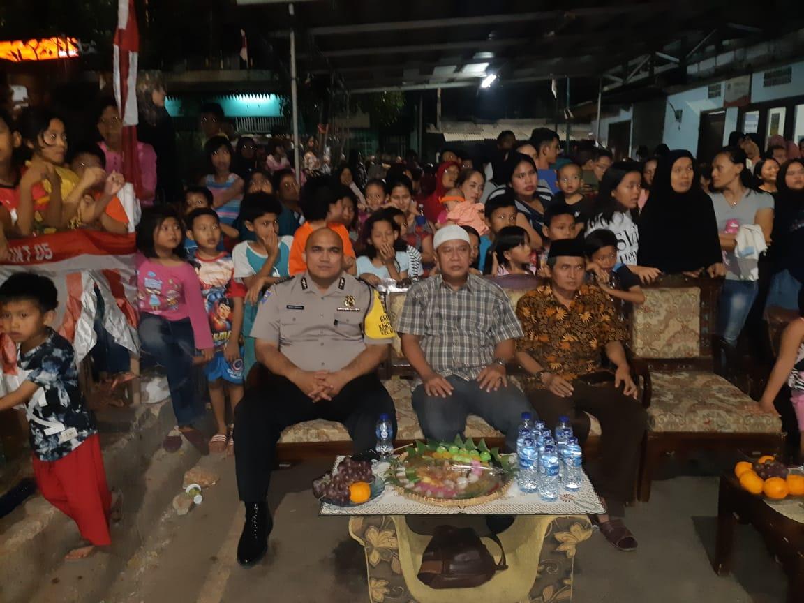 Bhabinkamtibmas Kelurahan Kampung Bali, Polsek Metro Tanah Abang, Menghadiri Undangan Gegiatan Acara Malam Puncak HUT RI ke 74 di Kelurahan Kampung Bali