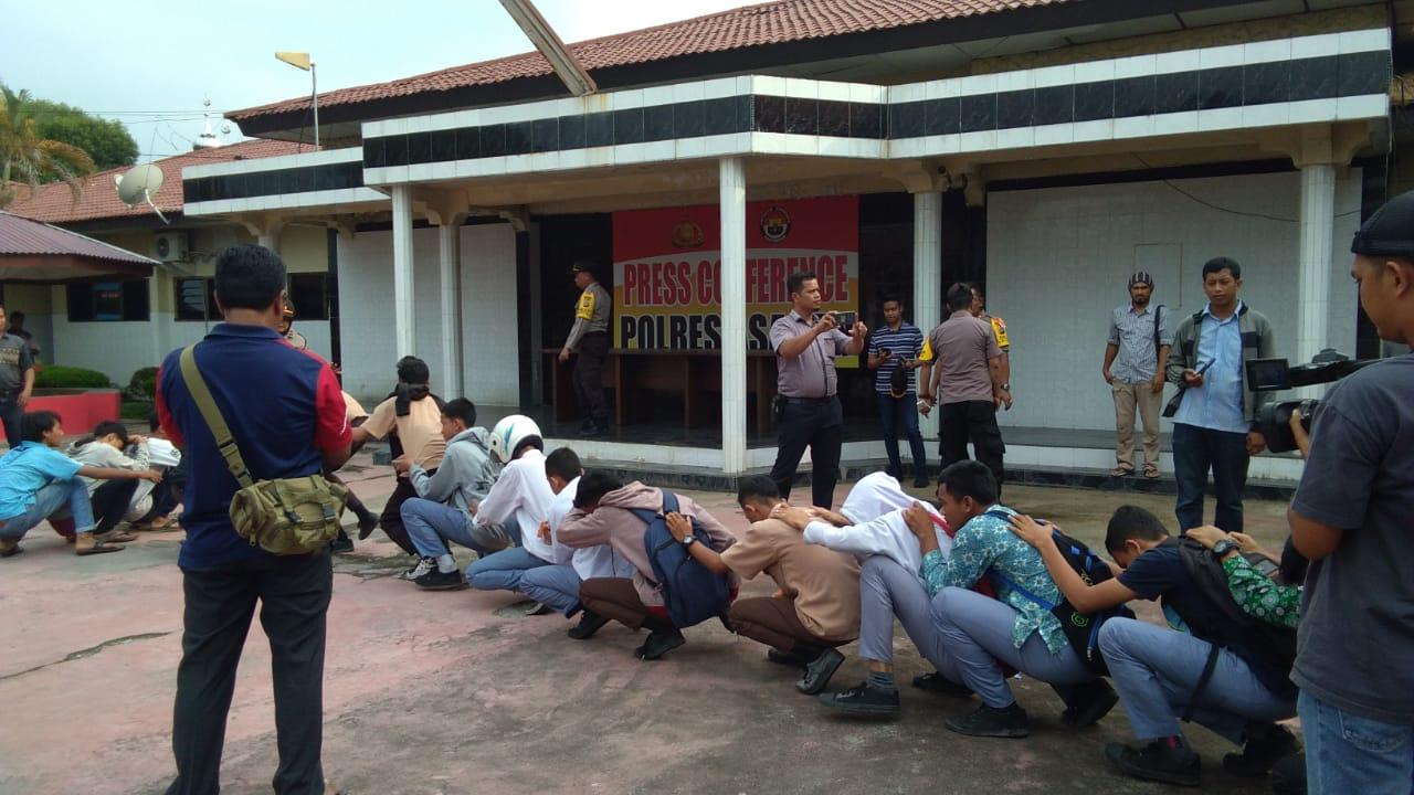 Polres Asahan Amankan 39 Pelajar Berencana Ikut Demo
