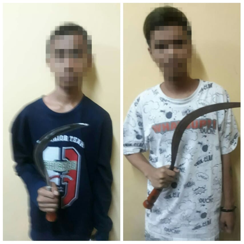 Polsek Tanjung Amankan Dua Orang Pelajar Pelaku Pengeroyokan