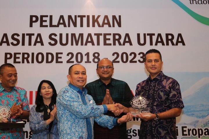Solahuddin Kembali Dilantik jadi Ketua Asita Sumut