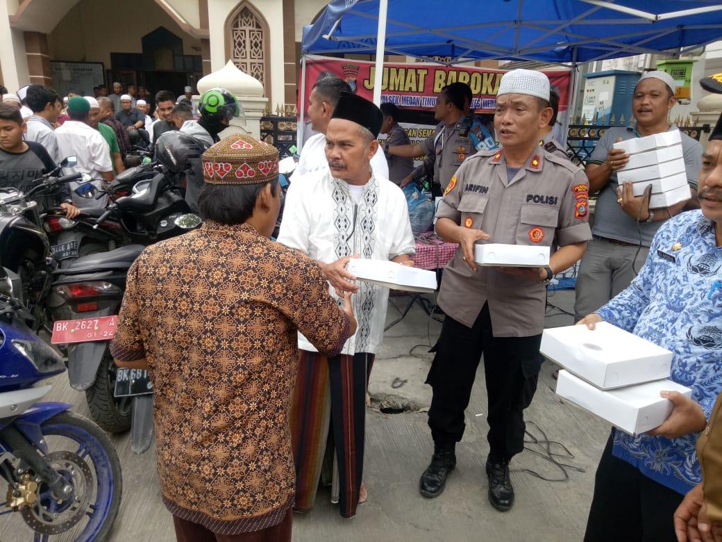 Jumat Barokah, Polsek Medan Timur dan Warga Tingkatkan Koordinasi Masalah Begal