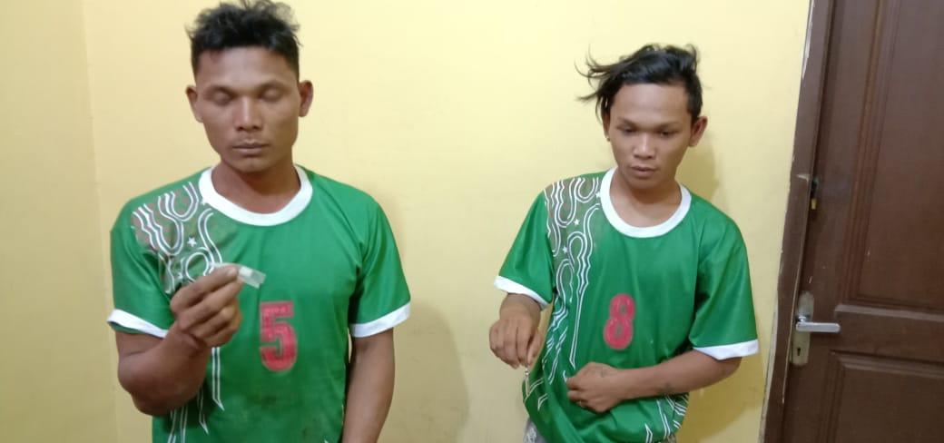 Dua Warga Aceh Singkil di Amankan Polsek Manduamas Atas kepemilikan Narkotika Jenis Sabu-sabu