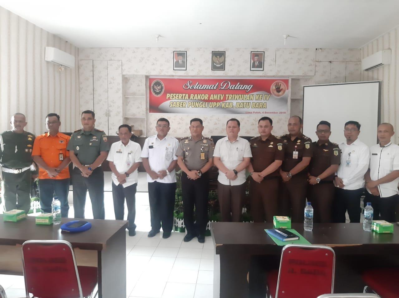 Kapolres Batu Bara AKBP Robin Simatupang, SH.M.Hu Pimpin Rakor Triwulan Ke IV Saber Pungli